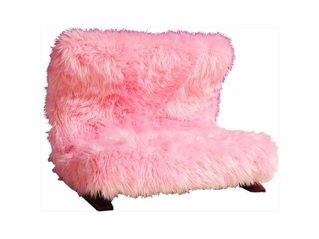 Fantasy Furniture Bm41 Modern Pink Faux Pet Bed