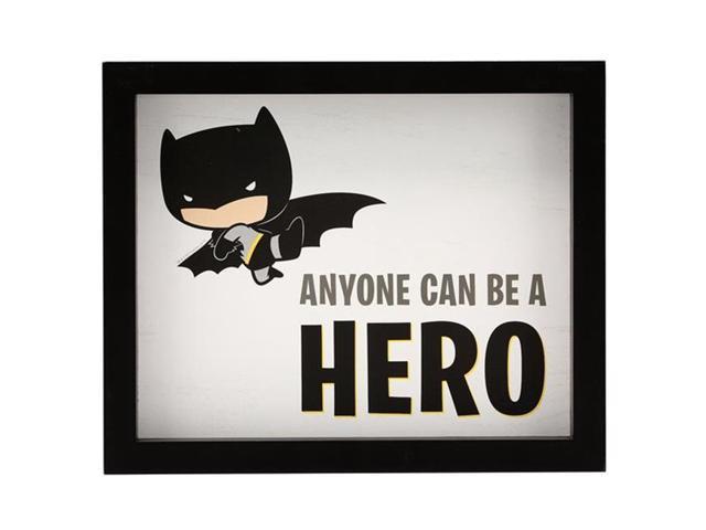 Justice League 90169026 S Batman Anyone Can Be A Hero Deep Framed Wall Decor