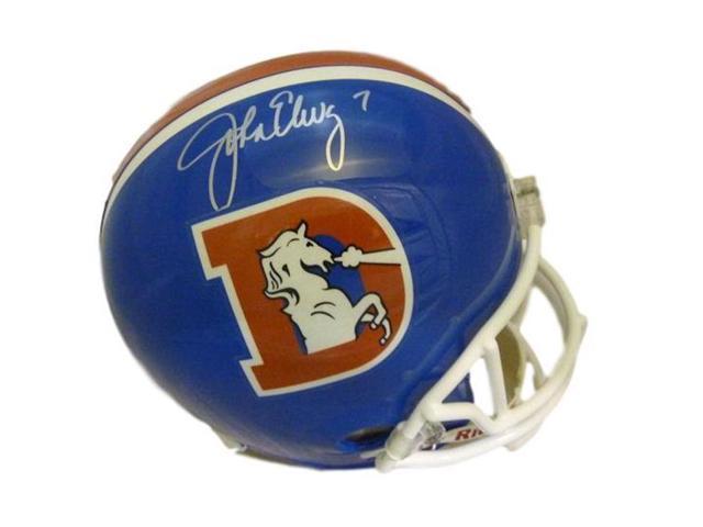 856b3ce0 Denver Autographs 11182 Denver Broncos John Elway Autographed D Logo  Throwback Replica Helmet - Newegg.com