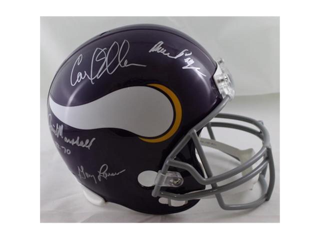 reputable site 88158 1dd90 Denver Autographs 21149 Minnesota Vikings Purple People Eaters Autographed  Full Size Replica Helmet PPE - Newegg.com