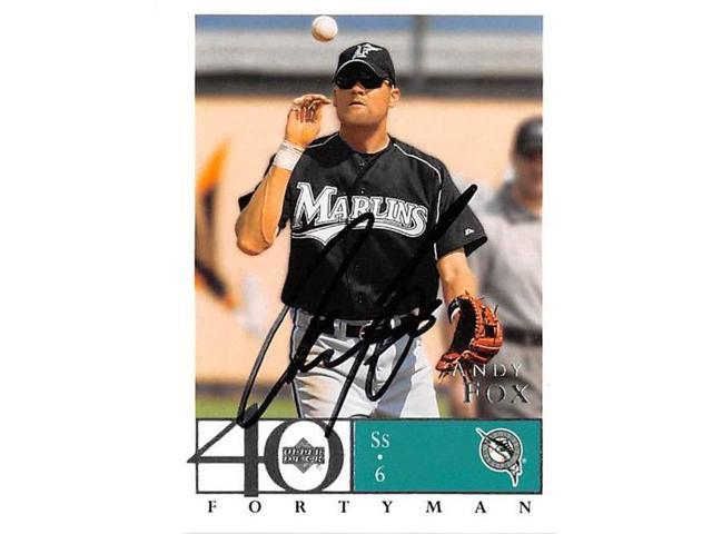 Autograph Warehouse 421292 Andy Fox Autographed Baseball Card Florida Marlins 2003 Upper Deck Forty Man No603 Neweggcom