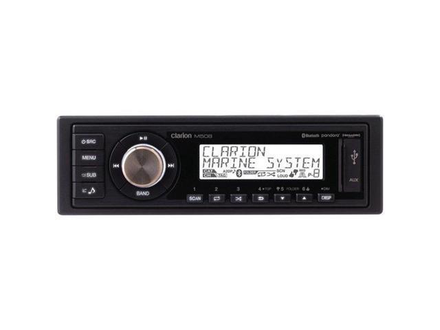 Clarion - M508 - Clarion(R) M508 Single-DIN In-Dash Marine-Grade M508  Digital Media Receiver with Bluetooth(R) - Newegg com