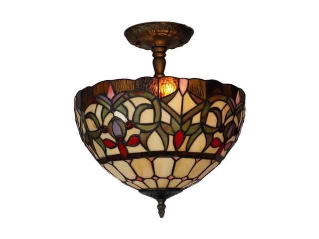 Amora Lighting Am1081hl12 Tiffany Style Ceiling Lamp