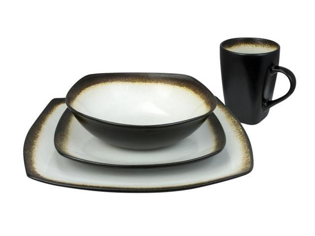 Haus by Kalorik 16-Piece Brown and White Dinnerware Set - Curved edges  sc 1 st  Newegg.com & Haus by Kalorik 16-Piece Brown and White Dinnerware Set - Curved ...