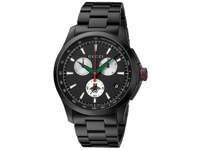 17c5e01ee58 Gucci G-Timeless Black Stainless Steel Chronograph Mens Watch YA126268