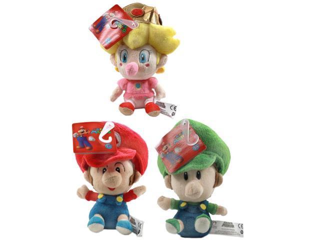 super mario brothers 5 plush baby set of 3 mario luigi peach