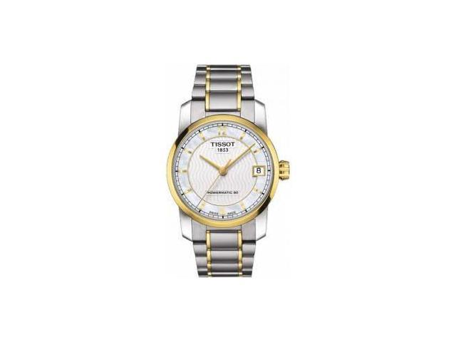 d46a6c17e Tissot T0872075511700 32 mm T-Classic Automatic Two-Tone Titanium Ladies  Watch, Titanium