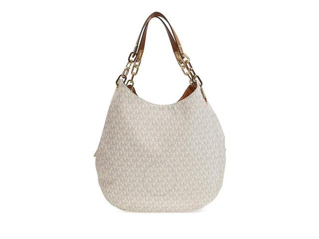 1fb036f5e7f6 Michael Kors Fulton Large Logo Shoulder Bag - Vanilla - Newegg.com