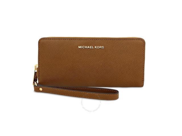 b472efc08 Michael Kors Jet Set Travel Leather Continental Wallet - Luggage ...