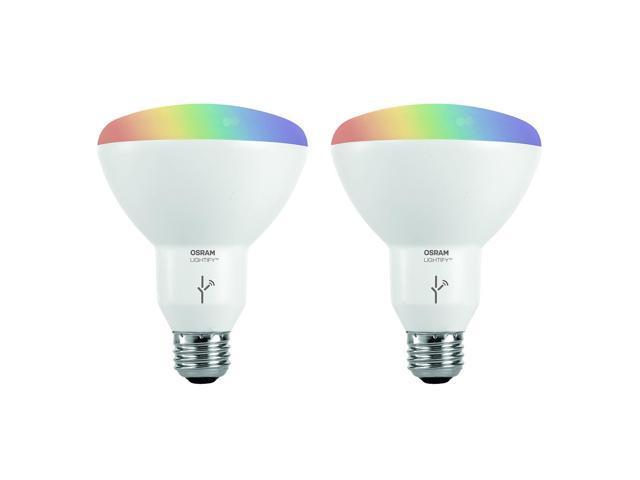 Sylvania Osram Lightify Smart Home 65W BR30 White/ Color LED Light ...
