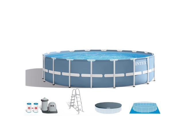 Intex 18 Feet x 48 Inches Prism Frame Family Swimming Pool Set ...