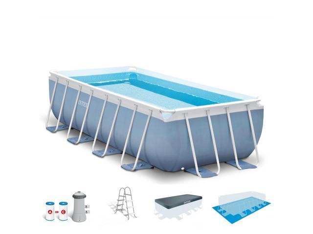 Intex 16 X 8 Feet X 42 Inches Prism Frame Pool Set Neweggcom