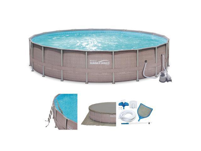 Summer Waves Elite 24 X 52 Above Ground Frame Pool Set