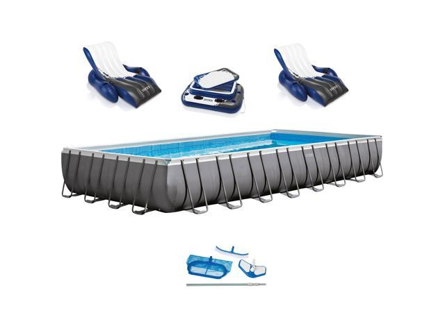 Intex 32 X 16 X 52 Ultra Frame Rectangular Swimming Pool