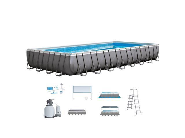 Intex 32 X 16 X 43 Foot Ultra Frame Swimming Pool Set Neweggcom