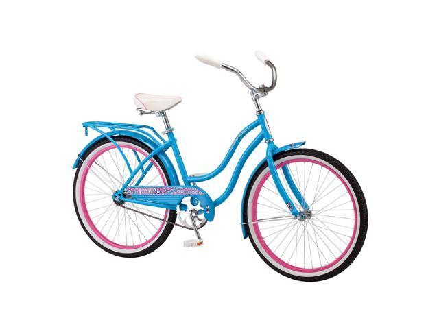 Schwinn Baywood 24-Inch Single-Speed Cruiser Bicycle, Teal - Newegg com
