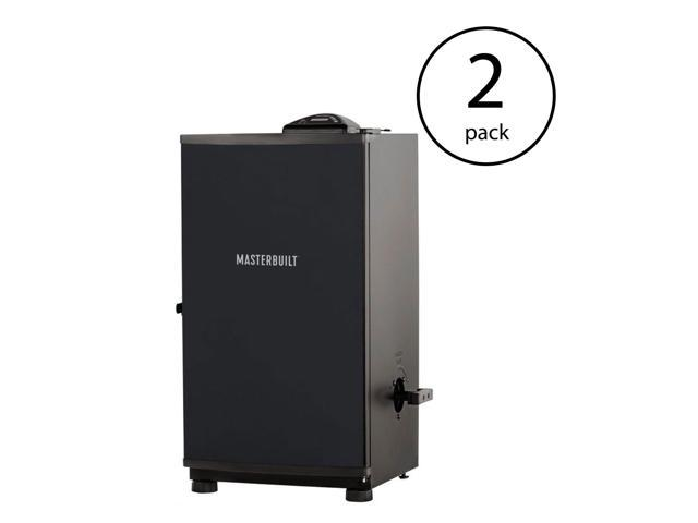 Masterbuilt Outdoor Barbecue 30 Inch Digital Electric BBQ Smoker, Black (2 Pack)