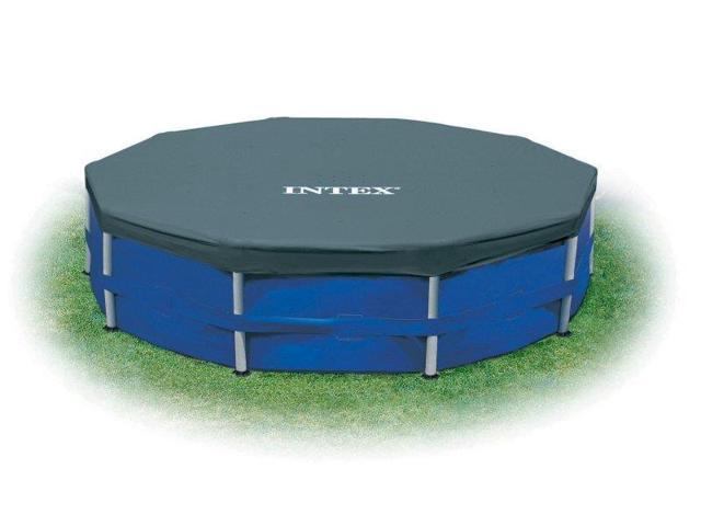 Intex 15 Foot Round Frame Easy Set Above Ground Swimming Pool Cover (2  Pack) - Newegg.com
