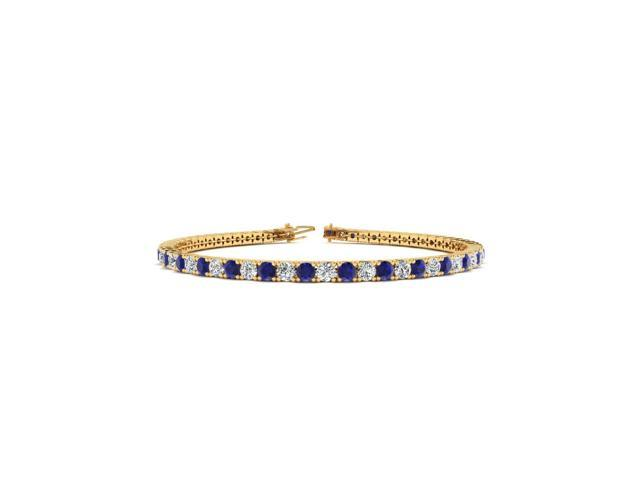 6 Inch 4 Carat Shire And Diamond Tennis Bracelet In 14k Yellow Gold