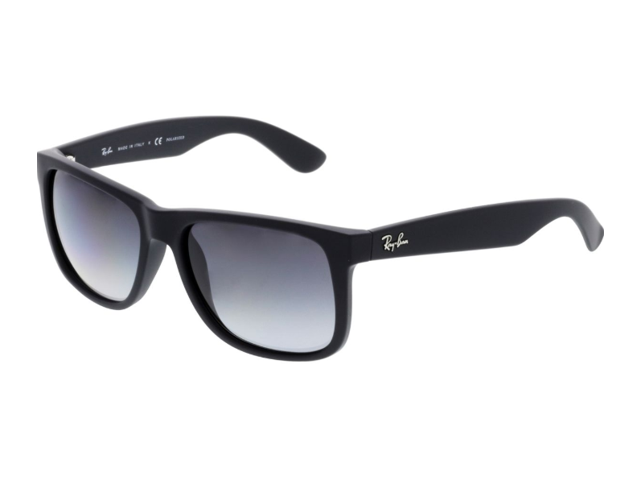 Ray Ban Polarized Justin Rb4165 622 T3 54 Black Rectangle Sunglasses Newegg Com