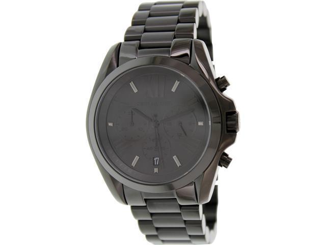 5a8a25197ebd Michael Kors Bradshaw Chrono Black Dial Black Ion-plated Unisex Watch MK5550