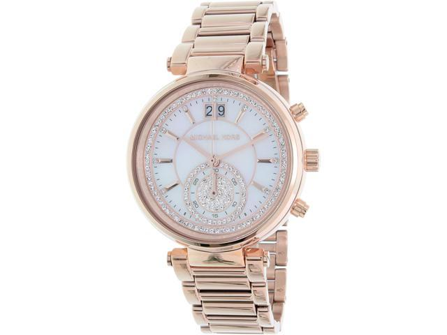 6d26aaf54ce0 Michael Kors Women s Sawyer MK6282 Rose Gold Stainless-Steel Quartz Watch