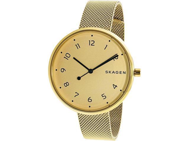 b7092f53e Skagen Signatur Gold Dial Ladies Mesh Watch SKW2625 - Newegg ...