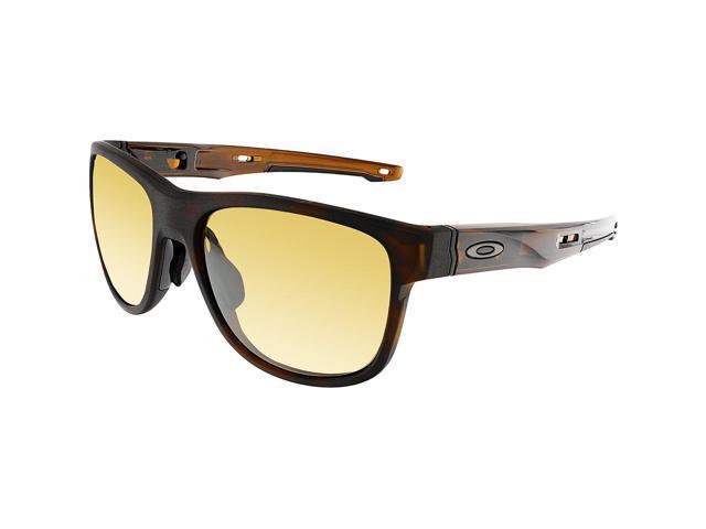 a56fe02c56 Oakley Men s Polarized Crossrange OO9369-06 Brown Square Sunglasses ...