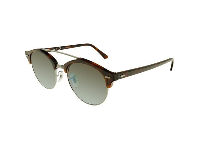 d363c4687b2 Ray-Ban Gradient Clubround Double Bridge RB4346-62519J-51 Brown Round  Sunglasses