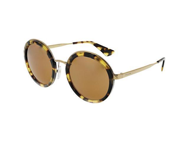 3bd8ec7ba5 Prada Women s PR50TS-7S06N0-54 Brown Round Sunglasses - Newegg.com