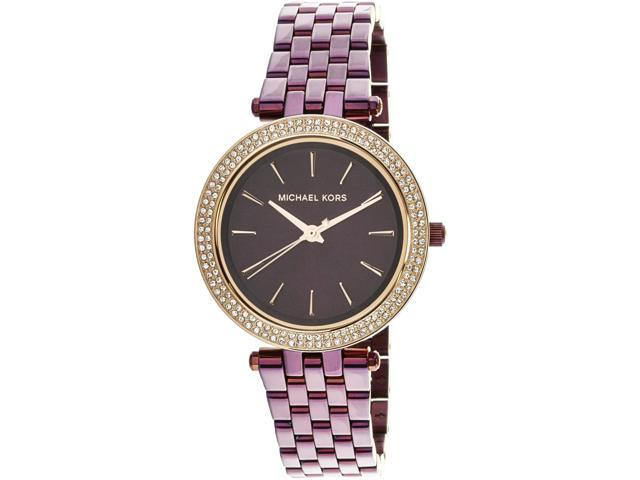 65341fd218b4 Michael Kors Women s Darci MK3725 Purple Stainless-Steel Japanese Quartz  Fashion Watch