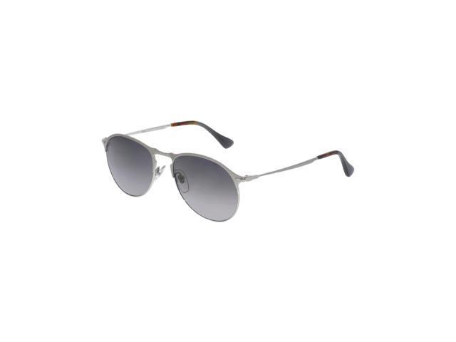 58c70621ee Persol Men s Polarized PO7649S-1068M3-53 Silver Aviator Sunglasses ...