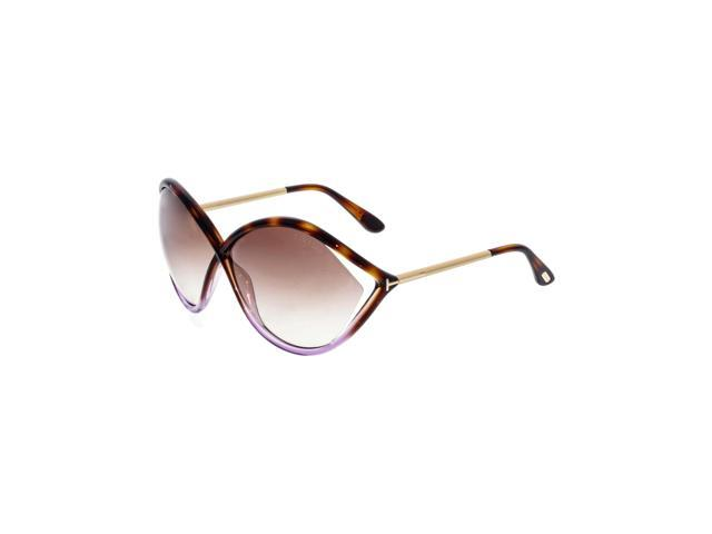9d0eb06612b1 Tom Ford Women s Gradient Liora FT0528-55F-70 Brown Oval Sunglasses