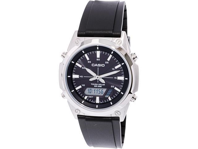 c4e0531fb Men's Casio Tough Solar Digital Black Resin Band Watch AMWS820-1AV ...