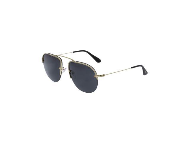5f928c3303 Prada PR58OS-ZVN5S0-55 Gold Semi-Rimless Sunglasses ...