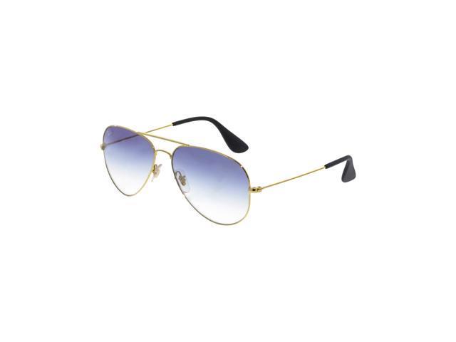 6c8da78e17356 Ray-Ban Gradient RB3558-001 19-58 Gold Aviator Sunglasses ...