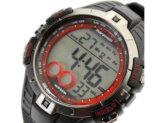3dee67ceffaa T5K423 caucho negro reloj de cuarzo Timex hombre con Dial Digital -  Newegg.com