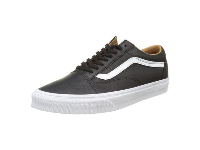 58e5adb9469 Vans VA38G1II7-075D Unisex Premium Leather Old Skool Black   True White  Lace-Up