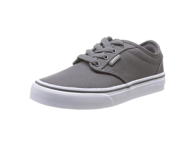 3c43b7451e6c Vans VZNR4WV-130M Men s Atwood Pewter Canvas   White Skate Shoe