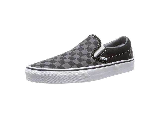 d140f4e8d23 Vans VEYEBPJ-035D Unisex Checkerboard Classic Black   Pewter Canvas Slip-On  Snea