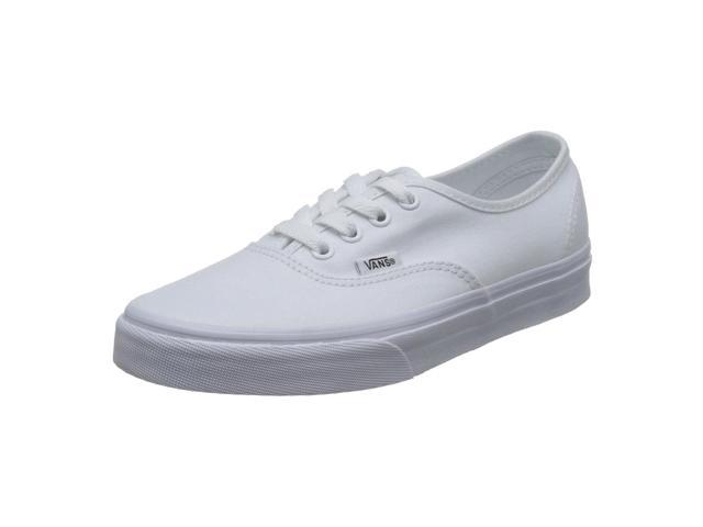 5af7b451366 Vans VEE3W00-095D Unisex Authentic True White Canvas Trainers Skate Shoe
