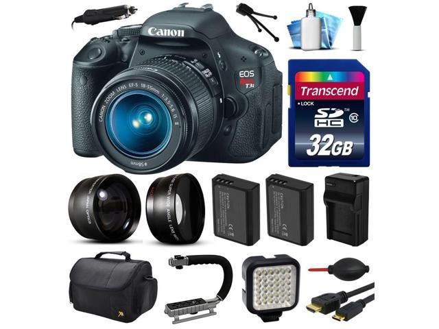 Canon EOS Rebel T3i 600D Digital Camera w/ 18-55mm Lens (32GB Essential  Bundle) - Newegg com
