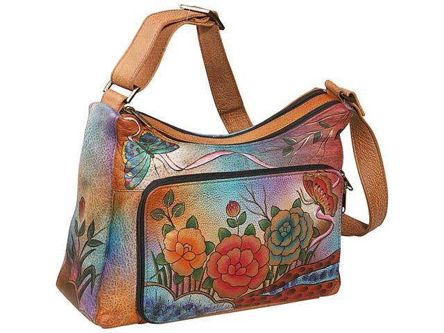 Anuschka Twin-Top East-West Organizer Shoulder Bag - Newegg.com 05ff254642b85