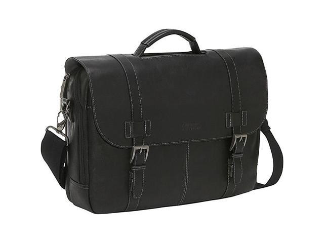 183ad187a Kenneth Cole Reaction Show Business Colombian Leather Flapover Computer  Case - Black
