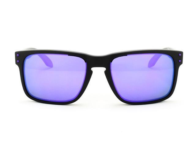 018854b3702 OAKLEY OO9102-26 Holbrook Sunglasses - Matte Black Frame   Violet Iridium  Lens