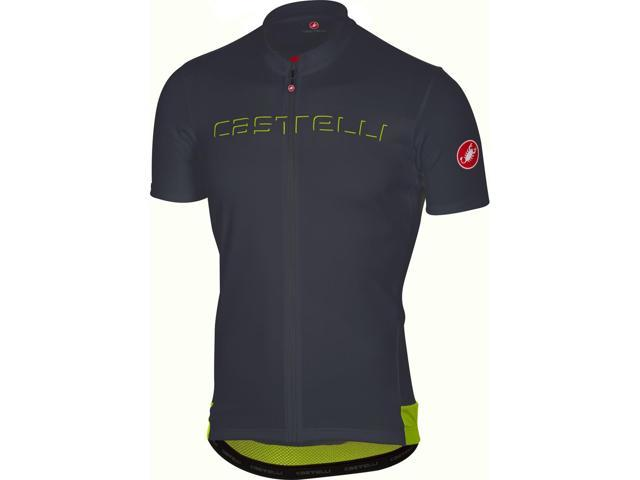 Castelli 2018 Men s Prologo 5 Short Sleeve Cycling Jersey - A17019  (anthracite ... 9b97f9340