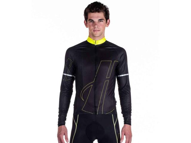 Hincapie Men\'s Kessel Long Sleeve Jersey - R130M16 (Lime - M ...