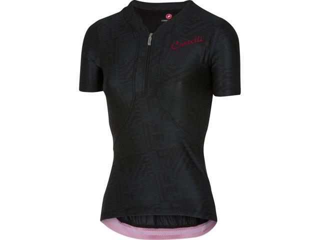 19e47796a Castelli Womens Bellissima Short Sleeve Cycling Jersey - A15065 (black red  - S)
