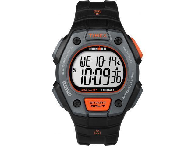 785a3de576d1 Running Sport Watch Men s Black Ironman Classic 30 Orange Accent Timex  TW5K90900