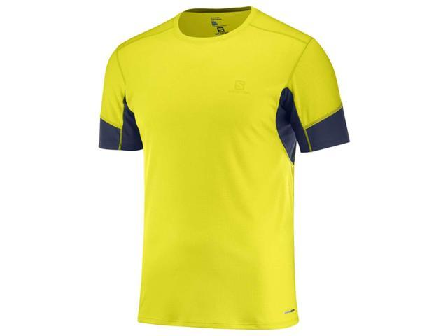 f2265d13587e Salomon 2018 Men s Agile Short Sleeve Tee - Sulphur Spring - L40385200 ...
